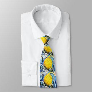 O laço dos homens roxos & amarelos do cacto de gravata