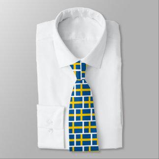 O laço sueco do pescoço do teste padrão da gravata