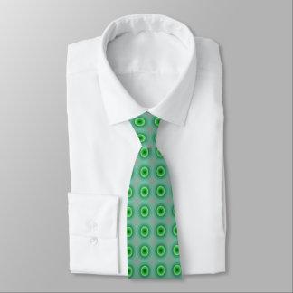 O laço verde de homens de ponto gravata