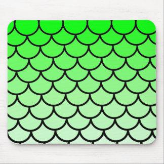 O lagarto de dragão verde escala Mousepad