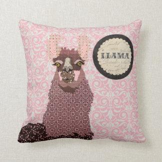 O lama cor-de-rosa cora travesseiro de Mojo do