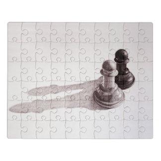 O lápis tirado penhora a xadrez