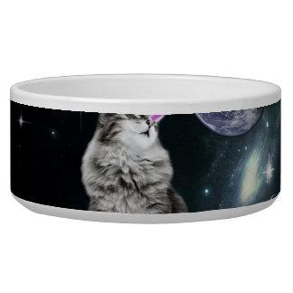O laser de Bioworld Eyes o gato do espaço Tijelas Para Comida De Cachorros