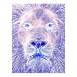 O leão elétrico cartões postais