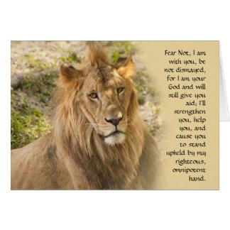 O leão obtem o cartão bom