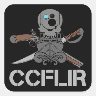 """O legado de CCFLIR Zap (etiqueta), 3"""" X 3"""", uma Adesivo Quadrado"""