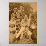 O Léon Tolstói autor com sua família Pôsteres