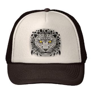 O leopardo branco com amarelo Eyes chapéus Boné