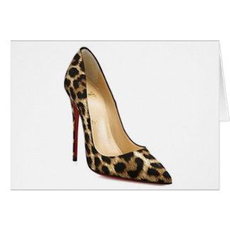 O leopardo de Louboutin das citações de Cinderella Cartão