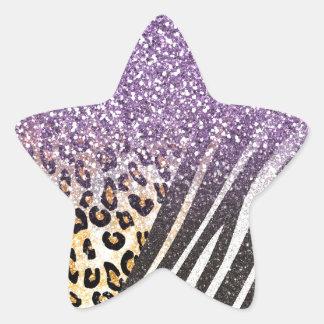 O leopardo e a zebra na moda femininos adesito estrela