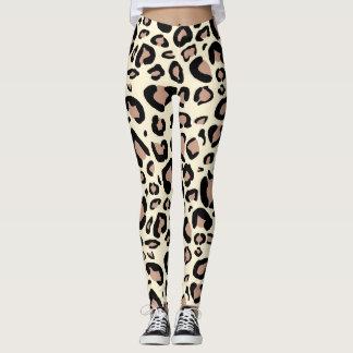 O leopardo mancha caneleiras leggings