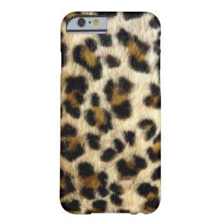 O leopardo preto chique mancha a caixa do iPhone 7 Capa Barely There Para iPhone 6