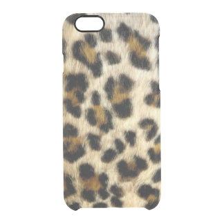 O leopardo preto Funky mancha o iPhone raro 6/6 de Capa Para iPhone 6/6S Transparente