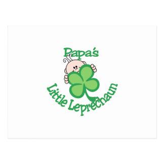 O Leprechaun pequeno da papá Cartão Postal
