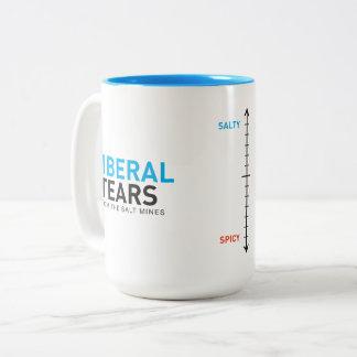 Caneca De Café Em Dois Tons O liberal da caneca 15ox do Dois-Tom rasga o