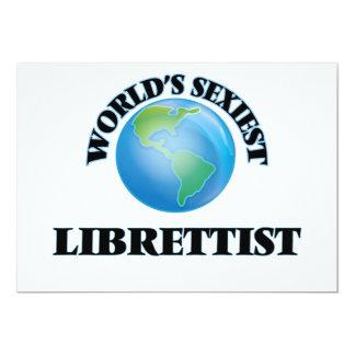 """O Librettist o mais """"sexy"""" do mundo Convites Personalizados"""