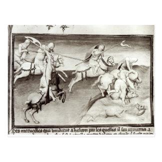 O líder Mongol, Hulagu, khan do Ilkhanate Cartão Postal