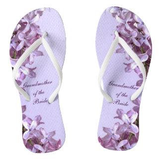 O Lilac floral floresce a avó do casamento da Chinelos