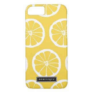 O limão amarelo do verão corta capas de iphone do