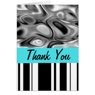 O líquido listra cartões de agradecimentos