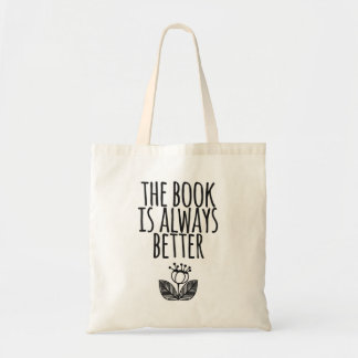 O livro é sempre melhor saco de livro bolsa tote