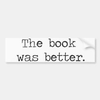 O livro era melhor adesivo para carro