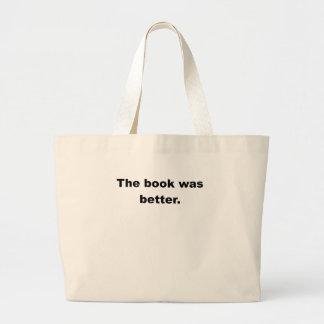 O livro era melhor sacola tote jumbo