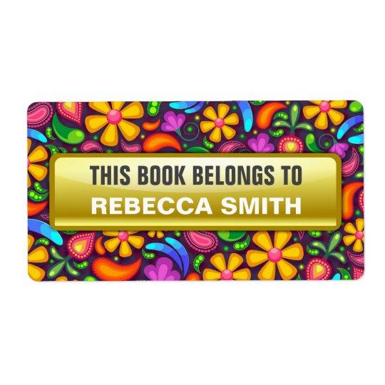 O livro personalizado etiqueta | etiqueta floral etiqueta de frete