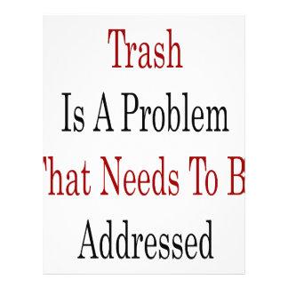 O lixo é um problema que precise de ser endereçado modelos de panfleto