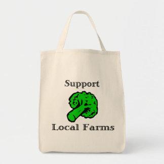 O Local do apoio cultiva a sacola do mantimento Bolsa Tote