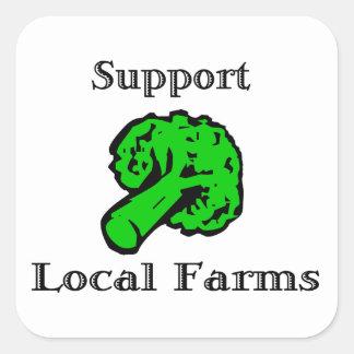 O Local do apoio cultiva etiquetas dos brócolos