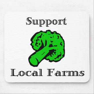 O Local do apoio cultiva o vegetal Mousepad dos