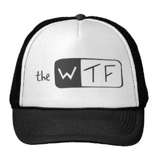 O logotipo de WTF Boné