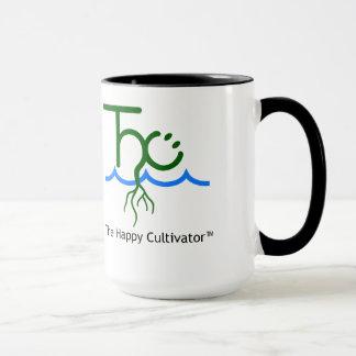 O logotipo feliz de Cultivator™ e os 15oz Caneca
