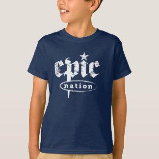 """""""O logotipo original da nação épico"""" caçoa o Camiseta"""