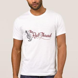 O logotipo vermelho da linha camiseta