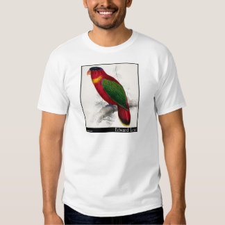 O Lory Preto-Tampado de Edward Lear T-shirts