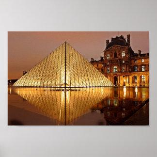 O Louvre, poster de Paris Pôster