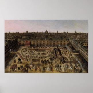 O lugar Royale e o carrossel em 1612 Poster