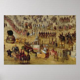 O lugar Royale e o carrossel em 1612 Posteres