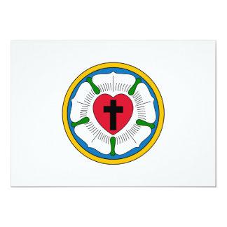 O Lutheranism Martin Luther do rosa de Luther Convites Personalizado