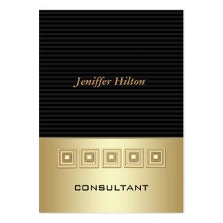 O luxo elegante profissional listra o ouro cartão de visita grande
