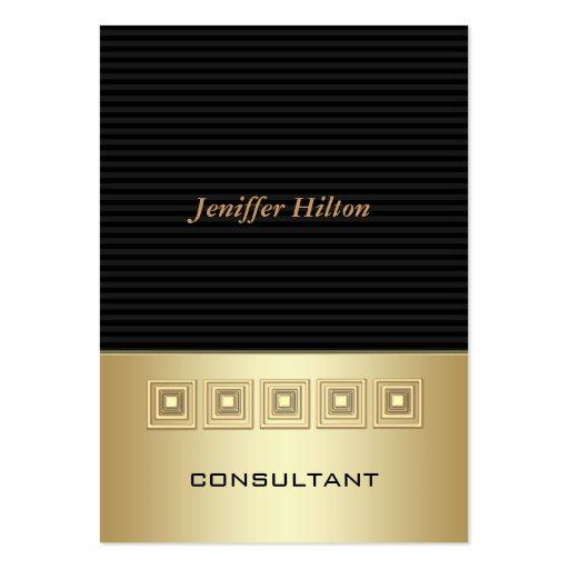 O luxo elegante profissional listra o ouro modelos cartoes de visita