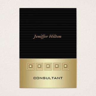 O luxo elegante profissional listra o ouro cartão de visitas