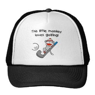 O macaco ama Golfing Boné