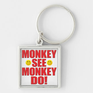 O macaco faz a vida chaveiro