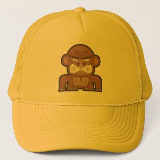 O macaco irritado do asno - fundo customizável boné
