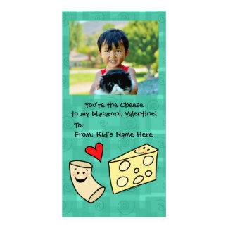 O macarrão ama namorados bonitos dos miúdos do cartao com foto personalizado
