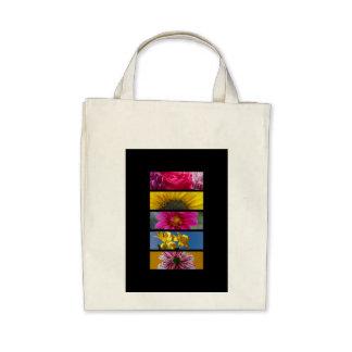 O macro cor-de-rosa & amarelo floresce a sacola bolsa