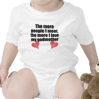 O mais amor de I minha madrinha Macacãozinho Para Bebês